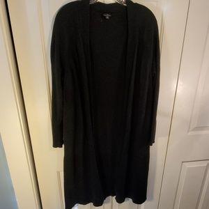 Talbots Black 100% Merino Wool Cardigan Sweater 2X